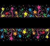 Μεγάλα ζωηρόχρωμα αστέρια υποβάθρου τη νύχτα Στοκ Εικόνες