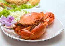 Μεγάλα θαλασσινά πιάτων κάρρυ καβουριών ποδιών Στοκ εικόνα με δικαίωμα ελεύθερης χρήσης