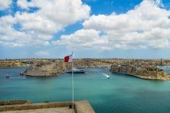 Μεγάλα λιμάνι και οχυρό Άγιος Angelo - Valletta, Μάλτα Στοκ Εικόνες