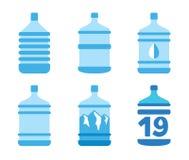 Μεγάλα μπουκάλια του νερού Στοκ Εικόνες