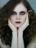 μεγάλα μπλε μάτια Στοκ Εικόνες
