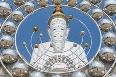 Μεγάλα πέντε ο λευκός Βούδας σε Wat Pha Sorn Kaew Στοκ Εικόνες