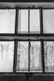 Μεγάλα παλαιά παράθυρα Στοκ Φωτογραφίες