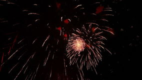 Μεγάλα πυροτεχνήματα για τις διακοπές απόθεμα βίντεο