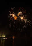 Πυροτεχνήματα στην πόλη arles Στοκ εικόνα με δικαίωμα ελεύθερης χρήσης