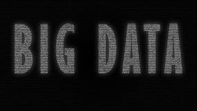 Μεγάλα στοιχεία έκφρασης που γίνονται με τους αριθμούς που τρέχουν στην οθόνη στο μαύρο υπόβαθρο φιλμ μικρού μήκους