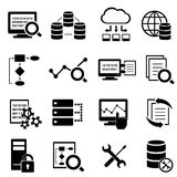 Μεγάλα στοιχεία, υπολογισμός σύννεφων και εικονίδια τεχνολογίας Στοκ φωτογραφίες με δικαίωμα ελεύθερης χρήσης