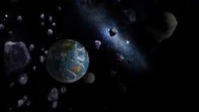 Μεγάλα Asteroids που πλησιάζουν τη γη ελεύθερη απεικόνιση δικαιώματος