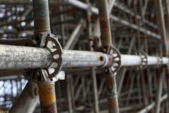 Μεγάλες ενώσεις υλικών σκαλωσιάς Στοκ φωτογραφίες με δικαίωμα ελεύθερης χρήσης