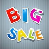 Μεγάλες ζωηρόχρωμες αυτοκόλλητες ετικέττες πώλησης Ελεύθερη απεικόνιση δικαιώματος