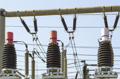 Μεγάλες ηλεκτρικές σπείρες Στοκ φωτογραφία με δικαίωμα ελεύθερης χρήσης