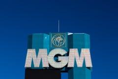Μεγάλες Λας Βέγκας ξενοδοχείο και χαρτοπαικτική λέσχη MGM Στοκ εικόνες με δικαίωμα ελεύθερης χρήσης