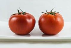 2 μεγάλες ντομάτες Στοκ εικόνες με δικαίωμα ελεύθερης χρήσης