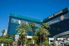 Μεγάλες ξενοδοχείο και χαρτοπαικτική λέσχη Λας Βέγκας Νεβάδα MGM Στοκ Εικόνες
