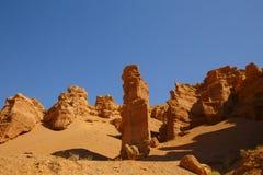 Μεγάλες πέτρες στο φαράγγι Charyn Στοκ φωτογραφία με δικαίωμα ελεύθερης χρήσης