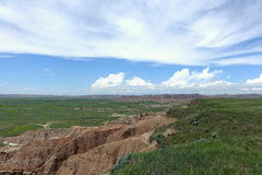 Μεγάλες πεδιάδες, εθνικό πάρκο Badlands, νότια Ντακότα στοκ εικόνα