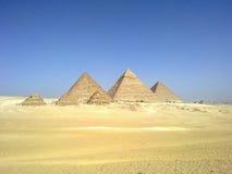 Μεγάλες πυραμίδες της Αιγύπτου Στοκ Εικόνες
