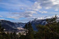 Μεγάλη άποψη πέρα από Flatdal Στοκ Εικόνες