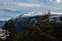 Μεγάλη άποψη πέρα από Flatdal Στοκ εικόνα με δικαίωμα ελεύθερης χρήσης