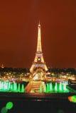 Μεγάλη άποψη Παρίσι νύχτας πύργων του Άιφελ Στοκ φωτογραφία με δικαίωμα ελεύθερης χρήσης