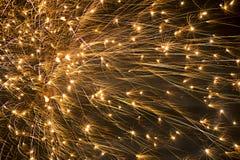 Μεγάλη έκρηξη πυροτεχνημάτων στον ουρανό Στοκ φωτογραφία με δικαίωμα ελεύθερης χρήσης