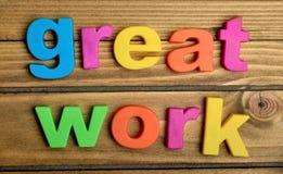 Μεγάλη λέξη εργασίας Στοκ εικόνα με δικαίωμα ελεύθερης χρήσης