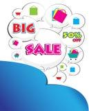 Μεγάλη λέξη πώλησης απεικόνιση αποθεμάτων
