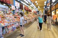 Μεγάλη αίθουσα αγοράς, Βουδαπέστη, Ουγγαρία στοκ φωτογραφίες