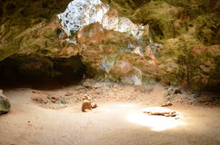 Μεγάλη αίθουσα στη σπηλιά Guadirikiri στη Αρούμπα Στοκ φωτογραφία με δικαίωμα ελεύθερης χρήσης