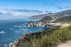 Μεγάλη ακτή Sur, Καλιφόρνια Στοκ Φωτογραφία