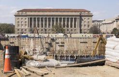 Μεγάλη ανασκαφή εργοτάξιων οικοδομής για το μουσείο του Washington DC Στοκ εικόνα με δικαίωμα ελεύθερης χρήσης