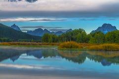 Μεγάλη αντανάκλαση Teton στην ανατολή Στοκ εικόνα με δικαίωμα ελεύθερης χρήσης