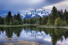 Μεγάλη αντανάκλαση Teton Στοκ Εικόνα