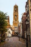 Μεγάλη αρχαία γοτθική εκκλησία ευρωπαϊκός παραδοσιακό&sig Ουτρέχτη - Ολλανδία Στοκ Εικόνες