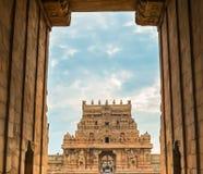 Μεγάλη αρχιτεκτονική Brihadeeswarar πυλών εξόδων στοκ εικόνες