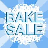 Μεγάλη αφίσα χειμερινής πώλησης με BAKE το κείμενο ΠΩΛΗΣΗΣ Διαφημιστικό διανυσματικό έμβλημα Στοκ Φωτογραφίες
