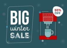 Μεγάλη αφίσα χειμερινής πώλησης Στοκ εικόνα με δικαίωμα ελεύθερης χρήσης