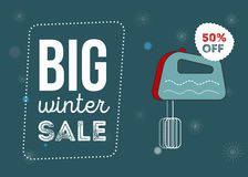 Μεγάλη αφίσα χειμερινής πώλησης Στοκ Εικόνα