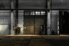 Μεγάλη βιομηχανική πόρτα Στοκ φωτογραφίες με δικαίωμα ελεύθερης χρήσης