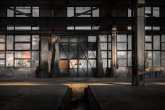 Μεγάλη βιομηχανική πόρτα Στοκ Φωτογραφία