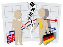 Μεγάλη Βρετανία και Γερμανία Brexit Αποκοπή των σχέσεων στην επιχείρηση απεικόνιση αποθεμάτων