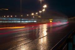 Μεγάλη γέφυρα στη Αγία Πετρούπολη Στοκ φωτογραφίες με δικαίωμα ελεύθερης χρήσης