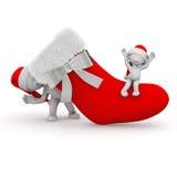 Μεγάλη γυναικεία κάλτσα Χριστουγέννων Στοκ εικόνες με δικαίωμα ελεύθερης χρήσης