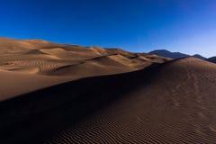 μεγάλη εθνική άμμος πάρκων αμμόλοφων του Κολοράντο Στοκ Εικόνα