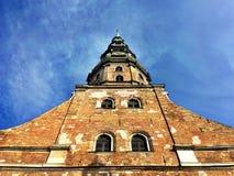 Μεγάλη εκκλησία στην παλαιά Ρήγα στοκ φωτογραφίες με δικαίωμα ελεύθερης χρήσης