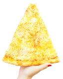 Μεγάλη ιταλική πίτσα καρυκευμάτων Στοκ εικόνες με δικαίωμα ελεύθερης χρήσης