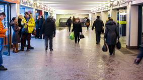 Μεγάλη κίνηση Timelapse κυκλοφορίας οδών πόλεων υπόγεια απόθεμα βίντεο