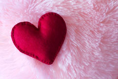 Μεγάλη καρδιά φιαγμένη από αισθητή κινηματογράφηση σε πρώτο πλάνο επάνω Στοκ φωτογραφία με δικαίωμα ελεύθερης χρήσης