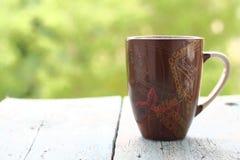 Μεγάλη κούπα του καφέ το πρωί Στοκ Φωτογραφίες