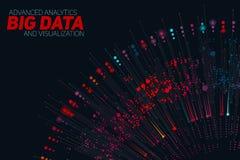 Μεγάλη κυκλική ζωηρόχρωμη απεικόνιση στοιχείων Φουτουριστικός infographic Αισθητικό σχέδιο πληροφοριών Οπτική πολυπλοκότητα στοιχ Στοκ φωτογραφίες με δικαίωμα ελεύθερης χρήσης